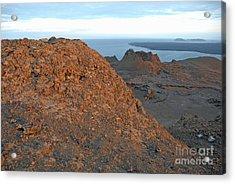 Volcanic Landscape At Sunset Acrylic Print by Sami Sarkis