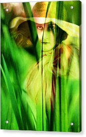 Voyeur Acrylic Print by Rebecca Sherman