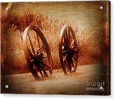 Wagon Wheels Acrylic Print by Ms Judi