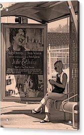 Waiting For Bus Acrylic Print by Viktor Savchenko