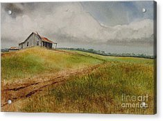Waiting For The Summers Rain Acrylic Print by Charles Fennen