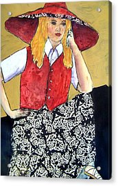 Waiting Impatiently Acrylic Print by Vickie Voelz