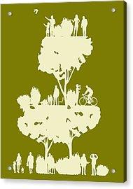 Walk In The Park Acrylic Print by Bojan Bundalo