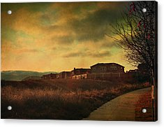 Walking Alone Acrylic Print by Laurie Search