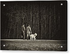 Walking The Dog Acrylic Print by Off The Beaten Path Photography - Andrew Alexander