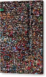 Wall Of Gum Acrylic Print by Garry Gay