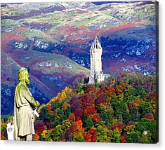 Wallace Autumn Colours Acrylic Print by Patrick MacRitchie