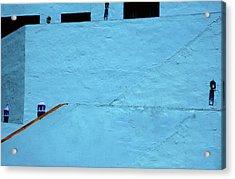 Walls In Blue Acrylic Print by Piet Scholten