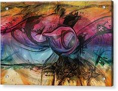Wandering Star Acrylic Print by Linda Sannuti