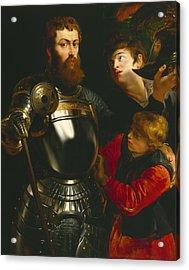 Warrior  Acrylic Print by Peter Paul Rubens
