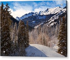 Wasatch Mountains In Winter Acrylic Print by Utah Images
