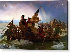 Washington Crossing The Delaware Acrylic Print by Pg Reproductions