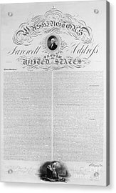 Washington: Farewell, 1796 Acrylic Print by Granger