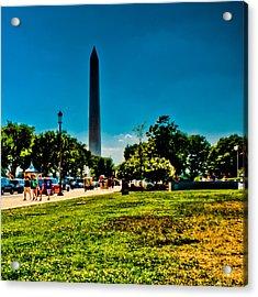 Washington Monument Acrylic Print by David Hahn