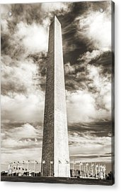 Washington Monument Acrylic Print by Dustin K Ryan