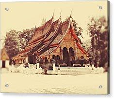 Wat Xieng Thong Acrylic Print by Danny Van den Groenendael