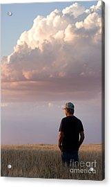 Watching The Grain Grow Acrylic Print by Cindy Singleton