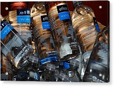 Water Bottles Acrylic Print by Rob Hans