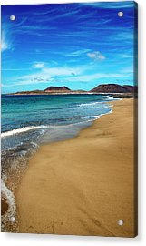 Water Caresses Sand Acrylic Print by Andreas Weibel - www.imediafoto.com