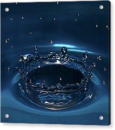 Water Drop Impact Acrylic Print by Linda Wright