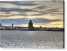 Water Front Liverpool Acrylic Print by Barry R Jones Jr