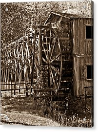 Water Mill In Action Acrylic Print by Douglas Barnett