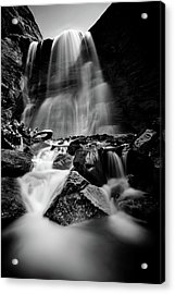 Waterfall Down The Mountains Acrylic Print by © Francois Marclay