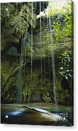 Waterfalls  Acrylic Print by Jacques Jangoux and Photo Researchers