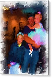 We Love Daddy Acrylic Print by Cindy Wright