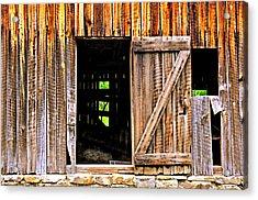 Weathered Barn Door Acrylic Print by Marty Koch