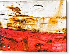 Weathered With Red Stripe Acrylic Print by Silvia Ganora