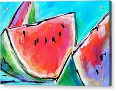 Wedgies Acrylic Print by Judy  Rogan