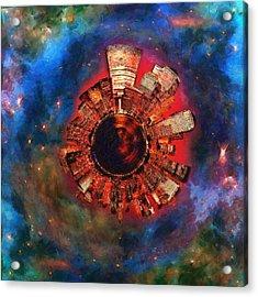 Wee Manhattan Planet - Artist Rendition Acrylic Print by Nikki Marie Smith