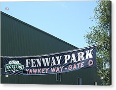 Welcome To Fenway Park Acrylic Print by Stephen Melcher