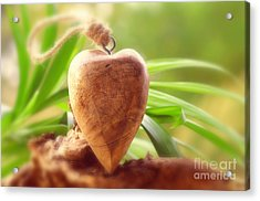 Wellnes Heart Acrylic Print by Tanja Riedel