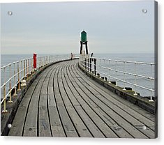 West Pier And Beacon Acrylic Print by Rod Johnson