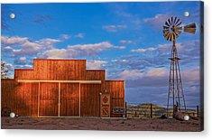 Western Barn Acrylic Print by Mike Hendren