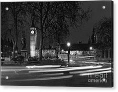 Westminster Night Traffic  Acrylic Print by Aldo Cervato