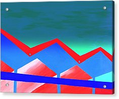 Wexler Folded Roof Eight Acrylic Print by Randall Weidner