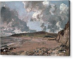 Weymouth Bay With Jordan Hill Acrylic Print by John Constable