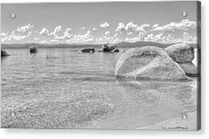 Whale Beach Black And White Acrylic Print by Brad Scott