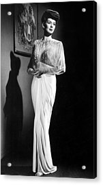 What A Woman, Rosalind Russell Wearing Acrylic Print by Everett