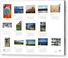 What A Wonderful World Calendar 2012 Acrylic Print by Juergen Weiss