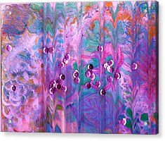 What Is Behind Curtain Acrylic Print by Anne-Elizabeth Whiteway