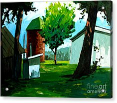 When Pat Loved Larry Acrylic Print by Charlie Spear
