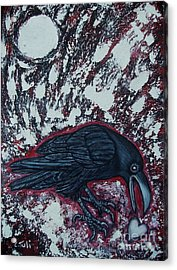 When The Raven Returned The Light Acrylic Print by Claudia Tuli