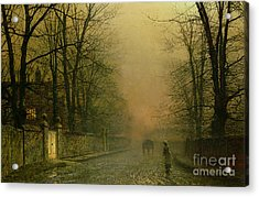 Where The Pale Moonbeams Linger  Acrylic Print by John Atkinson Grimshaw