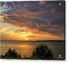 Where  The River Turns Acrylic Print by Phill Doherty