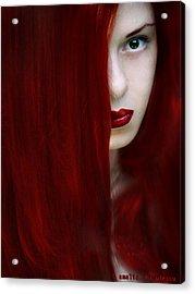 While Her Lips Are Still Red Acrylic Print by Amalia Iuliana Chitulescu