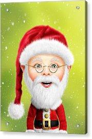 Whimsical Santa Claus Acrylic Print by Bill Fleming